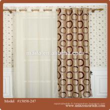 Tissu de rideau en jacquard 100% pour gros / Tissu de rideau de fenêtre bon marché