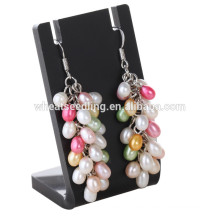 Nueva moda de alta calidad pendiente jinhua última moda colgando pendientes de perlas