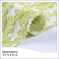 Custom made High quality new yarn dyed jacquard fabric flower for dresses