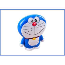 Smart Cellphone Silver Dual USB Cartoon Doraemon Power Bank