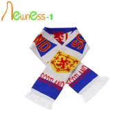 Esportes personalizados padrão de cachecol de tricô