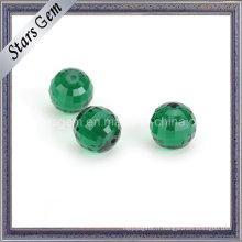 Colunbia émeraude vert ronde Checker perles de verre