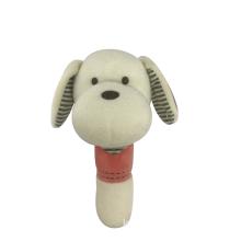 White Dog Squeaker Baby Toy