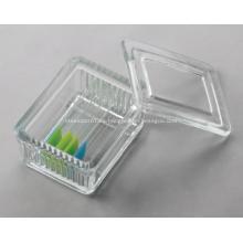 Vaso de tinción de vidrio 10 unids con tapa de vidrio, tipo Schifferdecker
