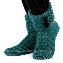Custom Hand Crochet Boots Chaussettes Chaussures Booties Pantoufles Sneakers Sandales