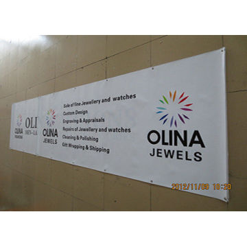 Single Side PVC Banner Printing with Grommets