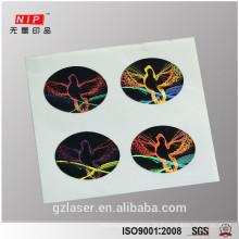 30mm ovale Taubenhologrammaufkleber für Sicherheitsverpackungsbox