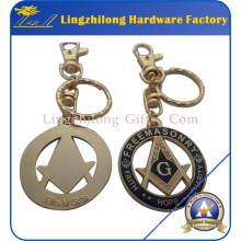 Soft Enamel con Epoxy Masonic Keychain