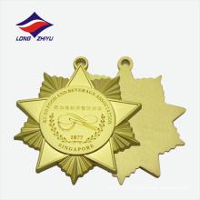 Prêmio personalizado feito sob encomenda com escorregadio dourado