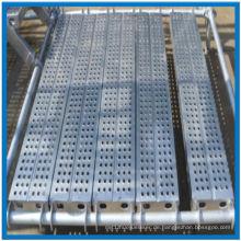 Hochwertiges Aluminiumgerüst-Decking mit dem Haken, der in China hergestellt wird