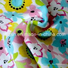 Tecido de malha de malha de impressão suave para roupas infantis Home Textile