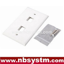 Face Plate 2 port, size:70x115mm