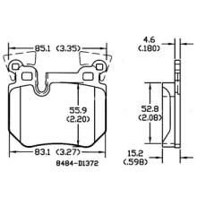 Almofada de freio D1372 Ceramic