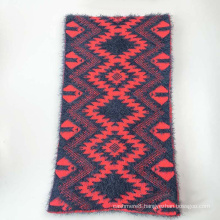 Winter Warm Diamond Checked Feather Yarn Heavy Knitted Scarf (SK177)