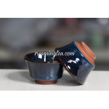 Blue Painting Porcelain Handleless Cup
