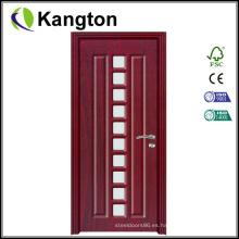 Precio interior de la puerta del cuarto de baño del PVC (precio de la puerta del PVC)