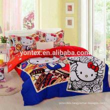 100% cotton hello kitty kids bedding set