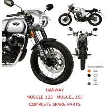 HANWAY MUSCLE 125 MUSCLE 150 Complete Motorcycle Spare Parts
