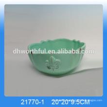 2016 cuencos de cocina de estilo antiguo, cuencos de cerámica en color verde