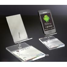 Présentoir de téléphone acrylique sur mesure