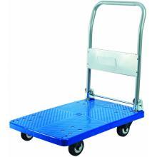 150kgs Plastic Platform Folding Hand Trolley(rubber caster)