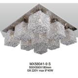 Rectangular modern residential aluminum ceiling lamp