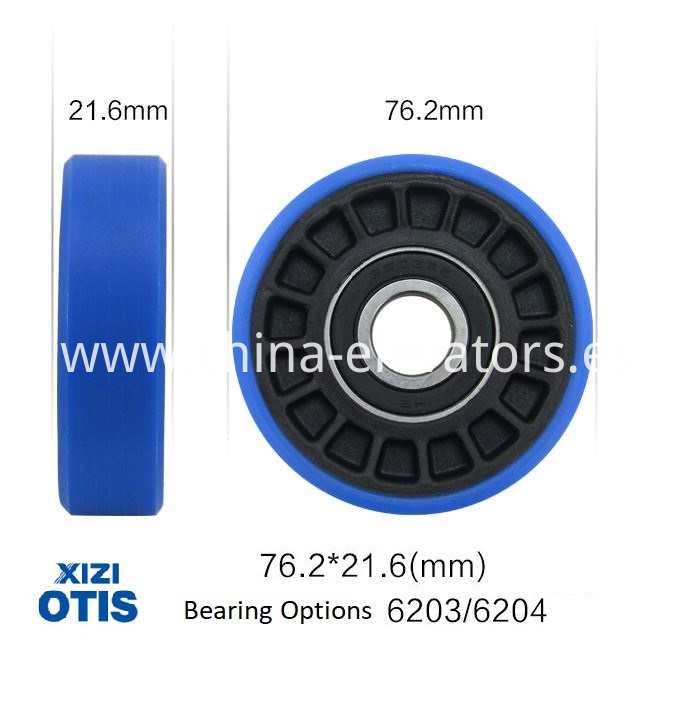 Xizi OTIS Escalator Step Roller 76.2*21.6*6203 / 76.2*21.6*6204
