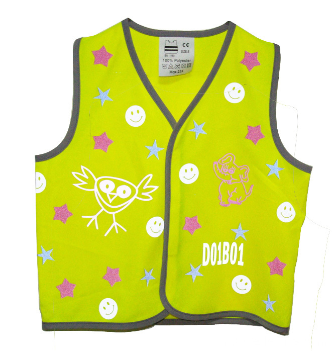 Childen Outdoors Safety Vest pour la course à pied à vélo