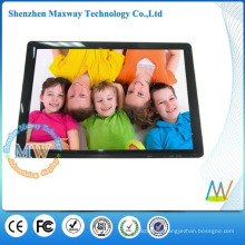 Slim design 19 inch a3 digital photo frame with HD video