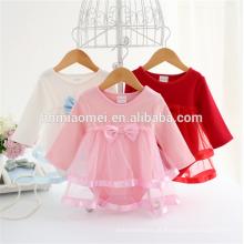 Personalizado marca roupas de bebê romper bebê menina roupas de manga longa de algodão crianças macacão para o bebê