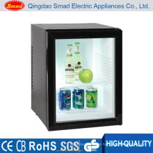 transparent door energy drink display mini bar fridge
