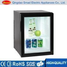 transparent door energy drink display mini bar fridge