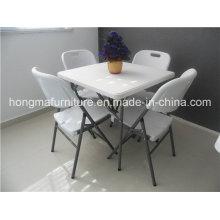 Открытый квадратный пластиковый складной стол для использования в пикнике
