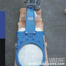 Actuador eléctrico Wafer Cuchillo Válvula de compuerta