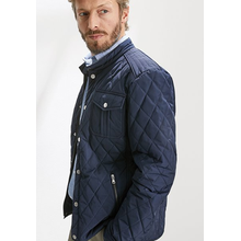撥水加工MEN'S QUILTED JACKET  - ネイビー
