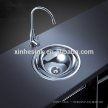 Acier inoxydable SUS 304 petit lavabo simple rond
