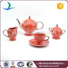 Ceramic Coffee Set Tea Set Wholesale With Diamond Design