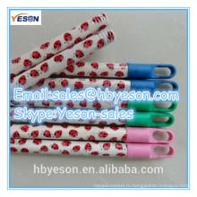 Италия резьба ПВХ с покрытием деревянная метка наклейка красочные швабры ручки