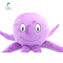 Brinquedo de bicho de pelúcia de polvo roxo de tamanho diferente