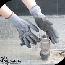 SRSAFETY anti-cut working gloves/PU safety gloves/made in China