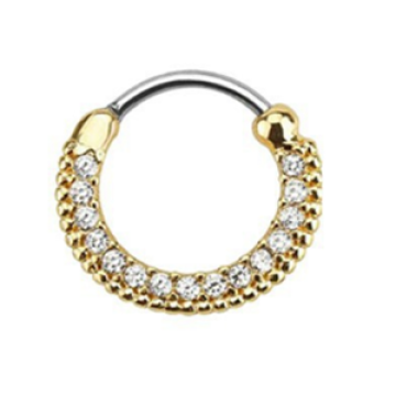 Gold Plated Septum Clicker Nose Ring