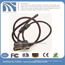 Varón de los 5ft 24 + 1DVI al cable masculino del VGA para la PC de DVD LCD HDTV