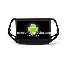 Quad core! Android 6.0 dvd de voiture pour Compass avec 10,1 pouces écran tactile capacitif / GPS / lien miroir / DVR / TPMS / OBD2 / WIFI / 4G