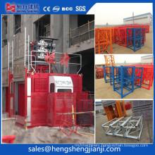 Construction Hoist Elevator Double Cage by Hsjj