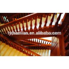 Pasamano de roble rojo / balaustre de escalera de madera maciza de roble blanco
