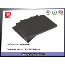 Пластиковый лист нейлон черный ESD