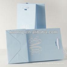 Бумажный мешок с ручкой корзина зеленый и окружающей среды мешок