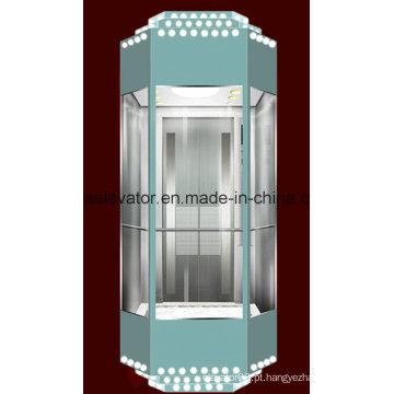 Elevador panorâmico com decoração de gravura a água-forte (JQ-A029)