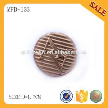 MFB133 China fabricante Moda de encargo de la ropa que cose el botón del metal de la capa
