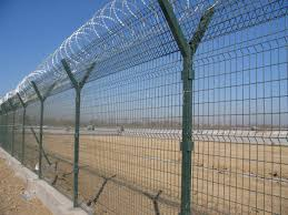 Razor barbed wire fencing